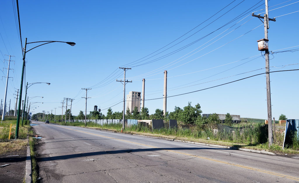 Industrial Road in Chicago Southeast Side.