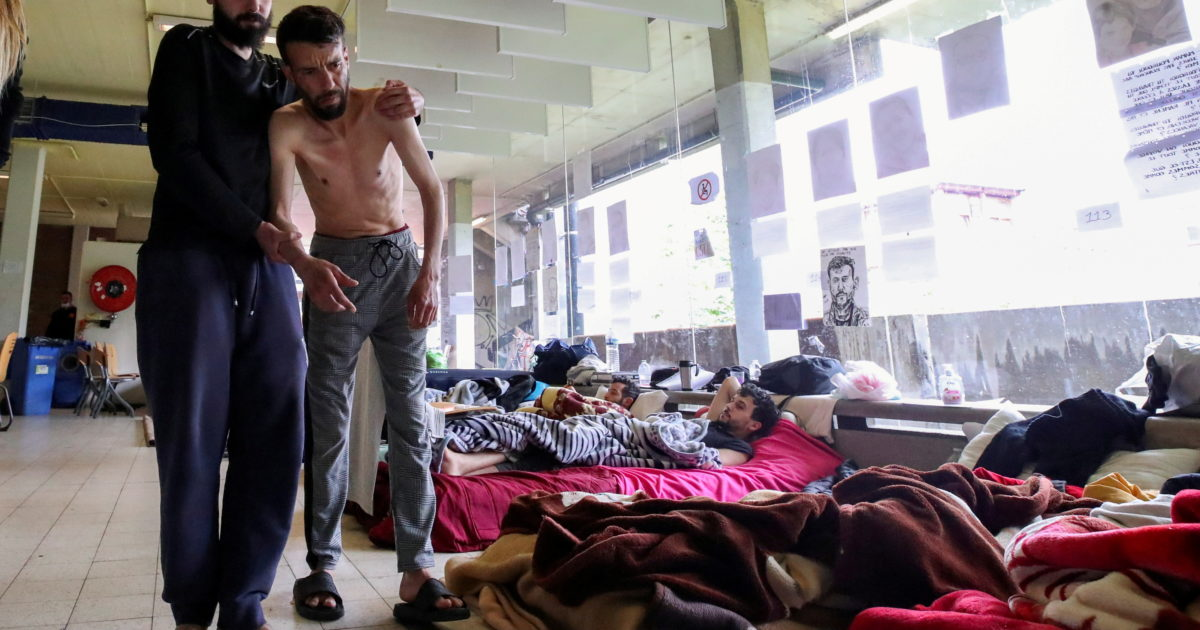 Asylum seekers are going on hunger strike for more than a month in Brussels