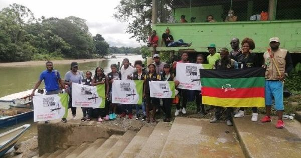 Colombia. Communities begin the humanitarian caravan in Chocó in the face of the presence of armed groups